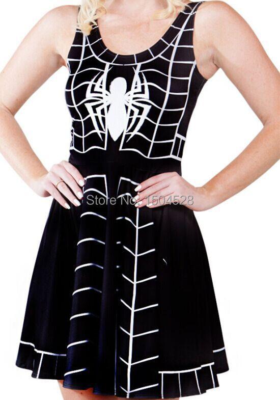 Black spider dress