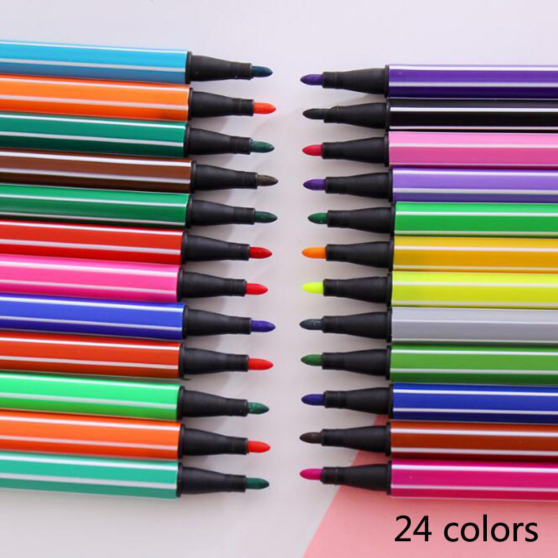Watercolor Pencils Chancellory Markers For Children Painting Colour Non-Toxic Washable Watercolor Pen Sign Painting Art School