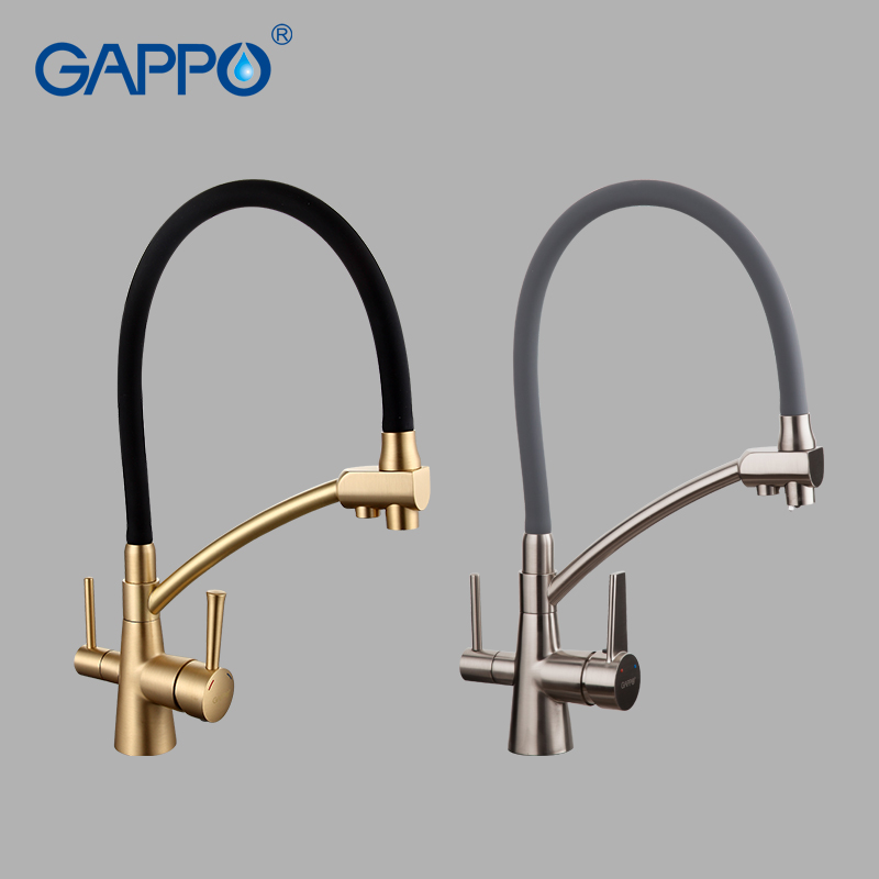 GAPPO water filter taps kitchen faucet mixer kitchen taps mixer sink faucets water purifier tap kitchen mixer filter tap-in Kitchen Faucets from Home Improvement