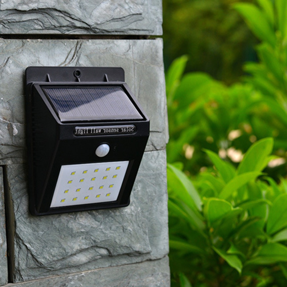 Waterproof Solar Rechargeable LED Solar light Bulb Garden lamp Decoration PIR Motion Sensor Night Security Wall light