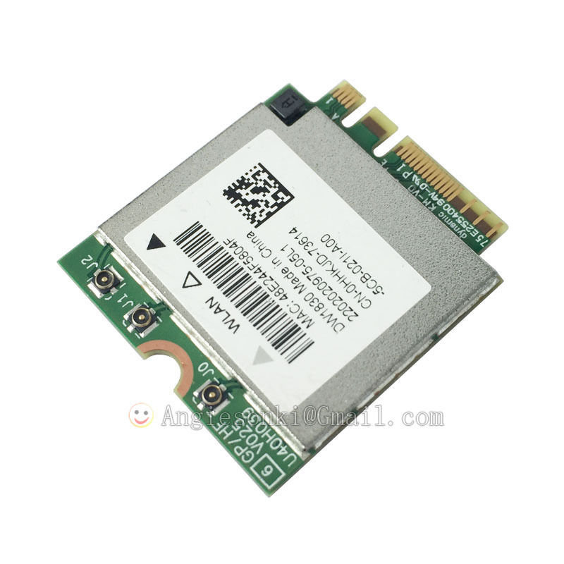 US $79 99 |2 4/5GHz 1300Mpbs Wireless 1830 DW1830 A/B/G/N/AC WLAN+bluetooth  BT4 1 NGFF Card BCM943602BAED GKCG2 For Dell XPS 15 9550-in Network Cards