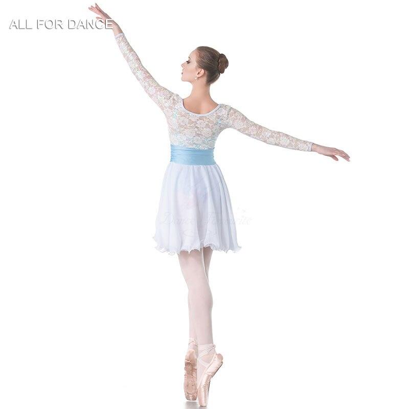 New white sequin top Bodice chiffion skirt Lyrical Dance Costume Women  Ballet Costume Dance Dress Girl Dance Costumes-in Ballet from Novelty   Special  Use ... 44235e0e535e