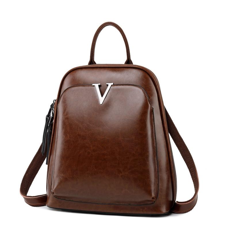 F FPY, Брендовые женские рюкзаки, винтажные женские рюкзаки с заклепками в виде буквы V, дорожная сумка на плечо, кожаный рюкзак для подростков, рюкзак школьный для ноутбука - 2