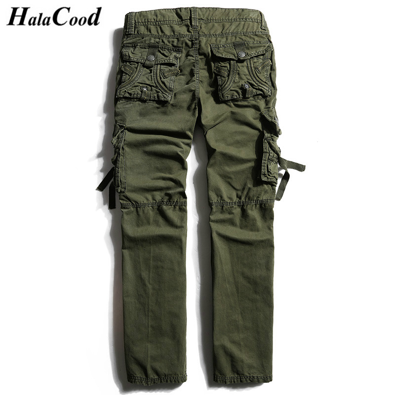 HALACOOD Best Quality Tactical Mens Pants Mr Cargo Casual Pants Combat Army Active Military Work Cotton Male Plus Size Trousers