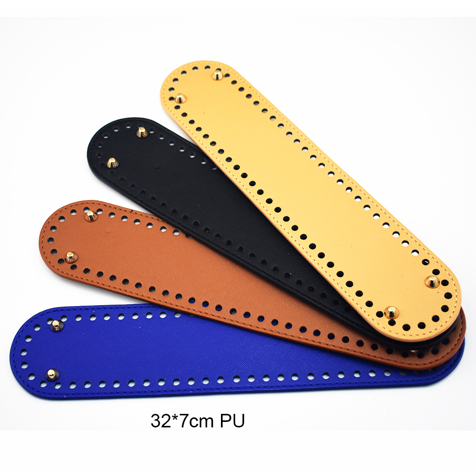32x7cm Oval Long Bottom With Holes Replacement For Knitting Bag PU Leather Women Shoulder Bag Handmade DIY Accessories KZBT015