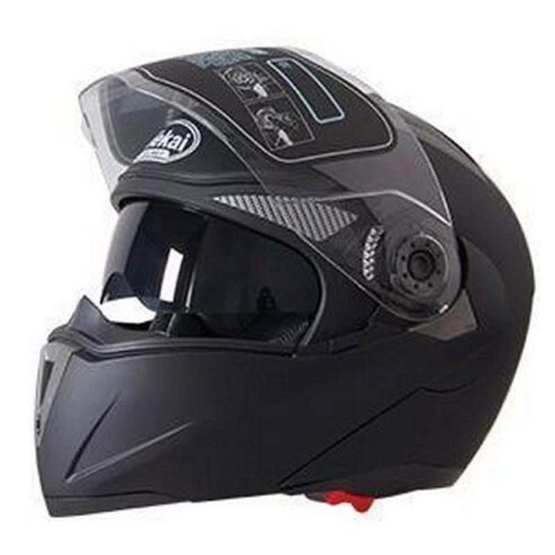 JIEKAI Motorcycle Helmet Dual Lens Visors Flip up Motocross Helmets Summer Men Warm Winter Motor Bike