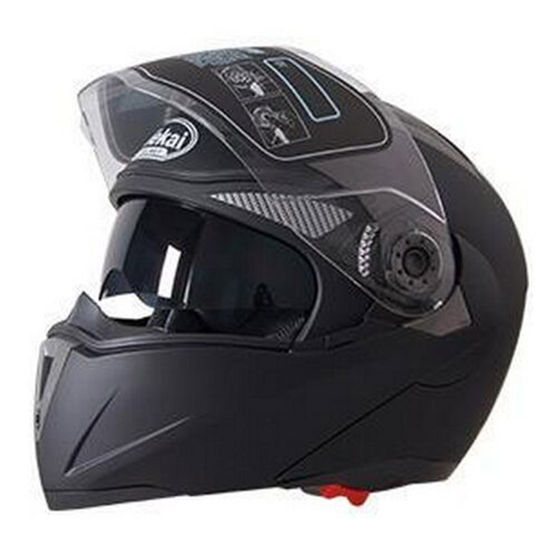 Men's Motorcycle Helmet MAN Dual Lens Visors Flip up snowmobile Helmets Motocross Men Winter Motor Bike Motorbike cross Helmet