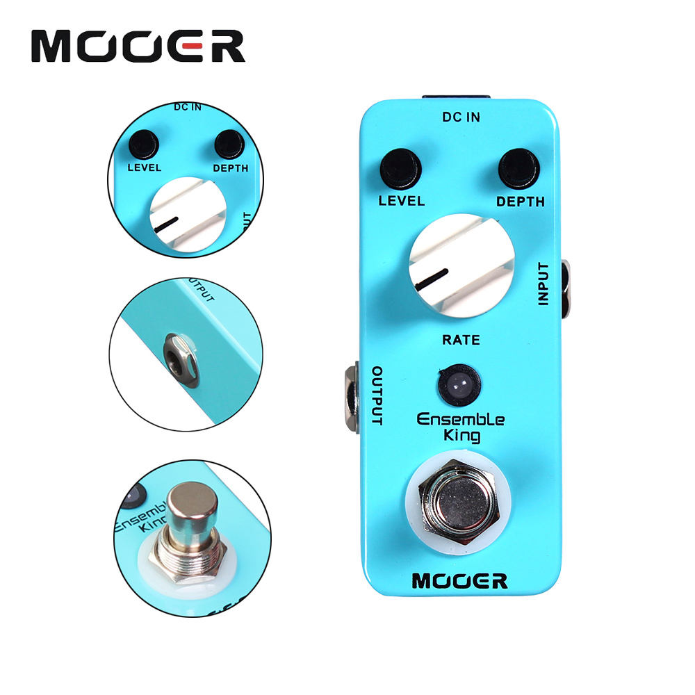 Mooer Mini Ensemble King Electric Guitar Effect Pedal True Bypass Pure Analog Chorus Sound siger art isofix