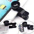 3 in1 Рыбий Глаз Широкоугольный + Микро Объектив Комплект Камеры для iPhone Samsung HTC LG Sony Для Xiaomi Huawei Meizu Один плюс
