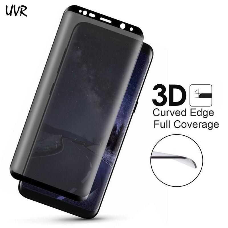 2017 Anti-Spy-glas för Samsung Galaxy S8 S8 Plus Integritet 3D - Reservdelar och tillbehör för mobiltelefoner