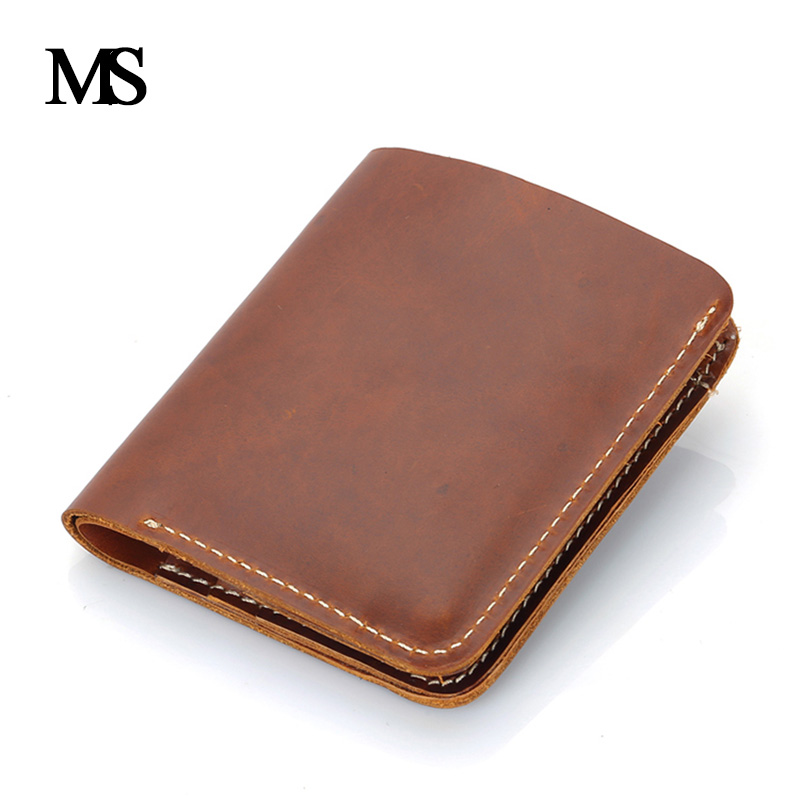 Genuine Leather Men Wallet Super Thin Leather Handmade Custom Name Slim Purse Men Short Small Wallet Card Purse Male TW1641 12v car dimming style relay drl kit for kia rio k2 led daytime running light auto led fog lamps daylight 2011 2012 2013 2014