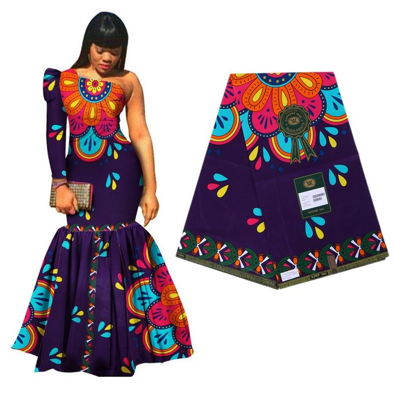 2019 beau 100% coton Ankara africain imprime tissu de cire réel néerlandais cire tissu de haute qualité 6yards pour robe offre spéciale motif