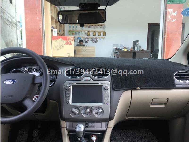 Voiture dashmats voiture-style accessoires de couverture de tableau de bord pour ford focus 2 MK2 2004 2005 2006 2007 2008 2009 2010