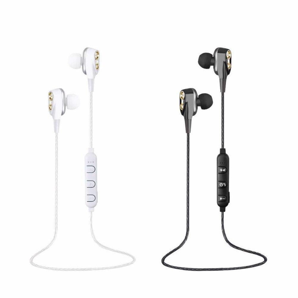 Newest Wireless Bluetooth Earphone 4 Speakers Dual
