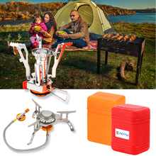3000/3500W Portable Outdoor Folding Gas Stove Camping Equipment Hiking Picnic Igniter Ultralight Camping Split Gas Stove D30 цена и фото
