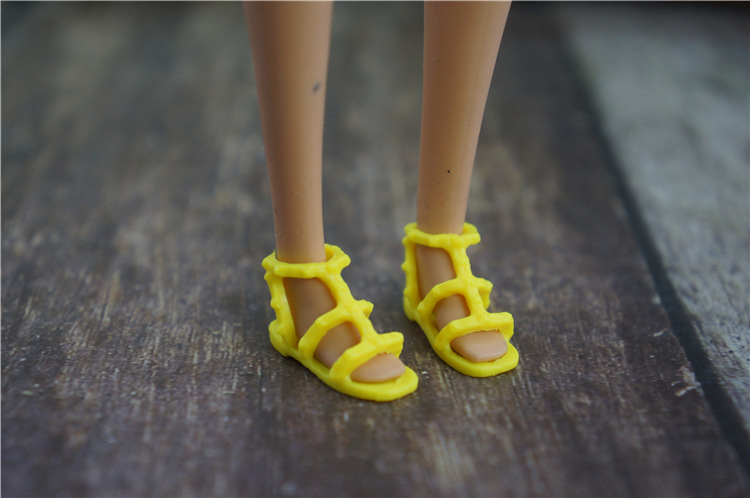 Wholesale New Multiple Colorful Accessories Fashion Original Shoes For Barbie Doll Shoes 1/6