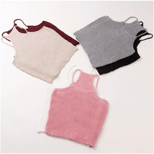 New knitted Tank Tops Women Camisole Vest simple Stretchable Ladies Slim Sexy Strappy Camis Tops