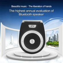 For Newest  Wireless Handsfree Car Kit Mini Speaker Bluetooth Car Kit with Car Charger Cellphone Universal Speakerphone