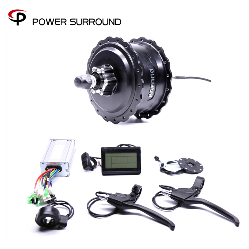 2018 Rushed 48v750w Bafang FAT Rear Electric Bike Conversion Kit Brushless Motor Wheel with EBike system electric bike shfit sensor gear sensor for bafang bbs motor ebike conversion kits