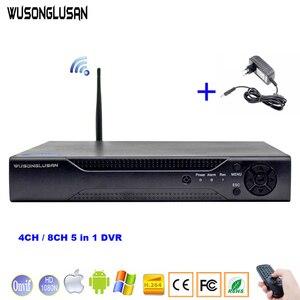Image 1 - 4CH 8CH 5 w 1 1080N DVR XMeye CCTV cyfrowy rejestrator wideo z Wifi 3G Onvif chmura P2P H.264 dla kamera ahd IP kamera hdmi vga