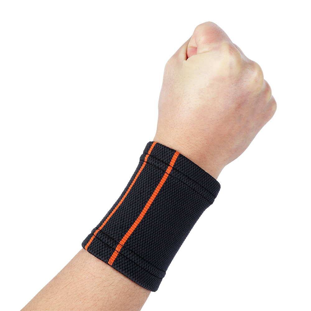 1 pc Breathable Knitted Wristbands Sport Sweatband Cotton Yarn Wrist Support Brace Wraps Guards For Gym Volleyball Basketball 3