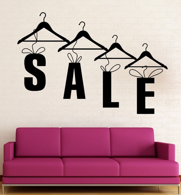 Wall decal sale shopping clothing store fashion vinyl stickers art mural