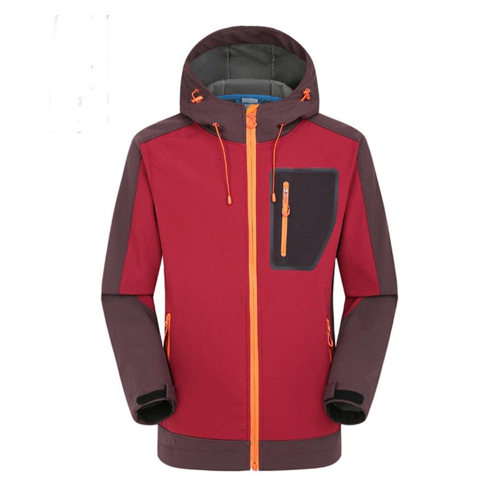 Для мужчин осень зима флис открытый теплый лыжный одежда водостойкий