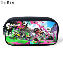 THIKIN Women Make Up Cases Splatoon 2 Pen Bags 3D Pencil Pouch Travel Cosmetic Bag for Game Zipper Polyester Travel Organizer(China)