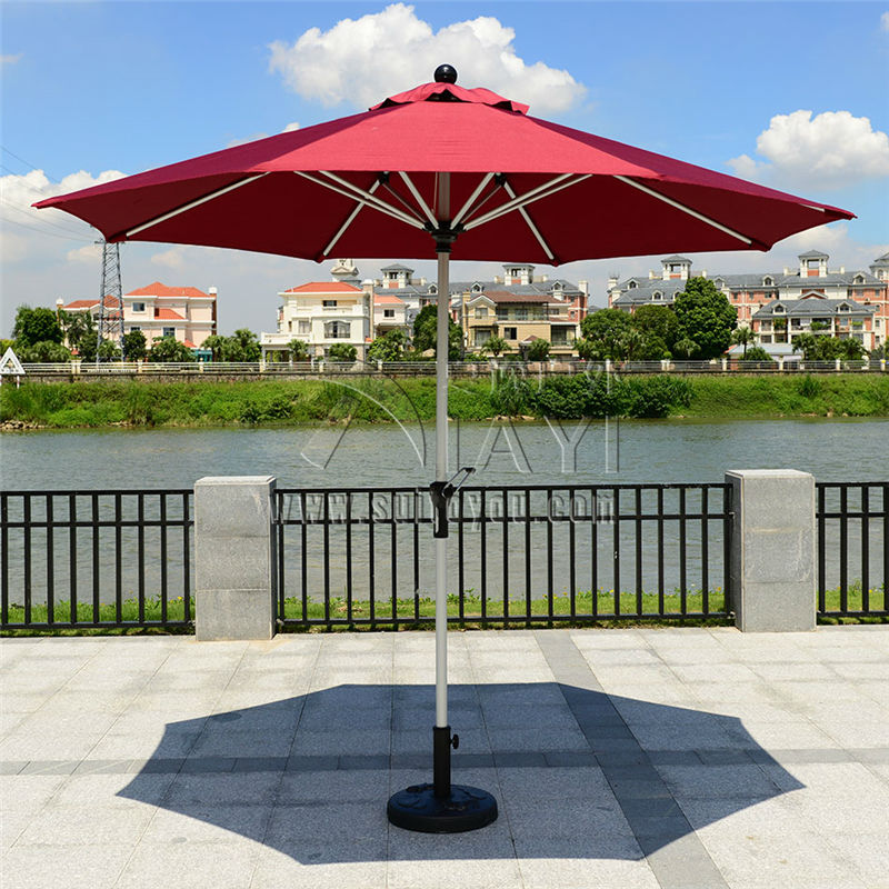 2.7 meter steel iron duplex outdoor beach sun umbrella patio parasol sunshade garden furniture cover (no base) 2 7 m outdoor umbrellas patio umbrella column banana straight with a hand of iron