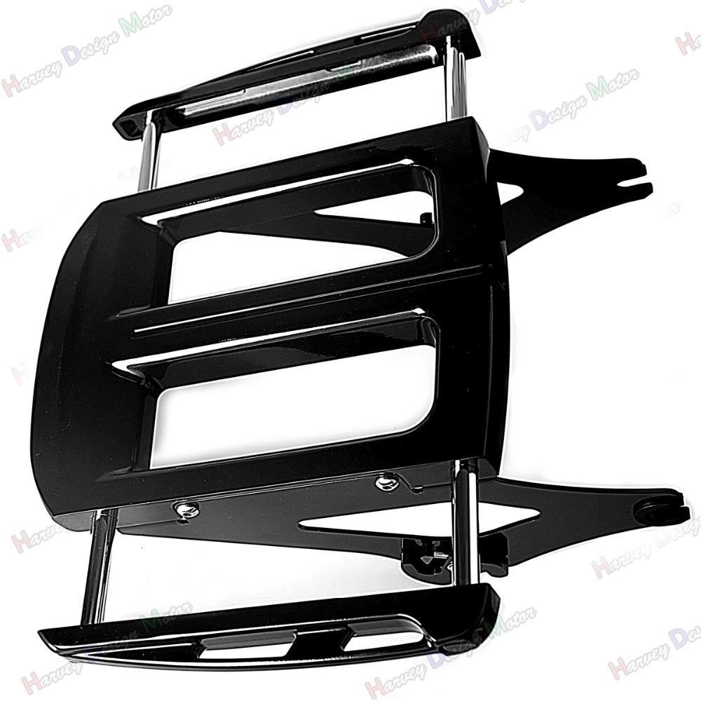 Gloss Black Adjustable Two-Up Luggage Rack For Harley Touring Road King FLH/T FLHX FLHR 2009-2014 15 16 17 paradigm cinema trio gloss black