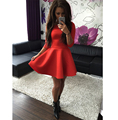 New 2016 Summer and Autum Dress Women Casual Solid Black & Red & Gray Pleated Sexy Dresses Fashion Slim Women Vestidos Robes