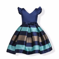 2018 Girl Dresses Summer Clothes Bow Stripes Princess Dress Girls Baby Formal Party Dress Children Clothing