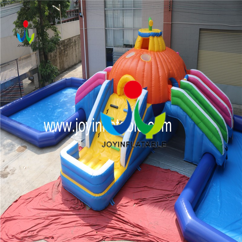 inflatable slide with swimming pool2
