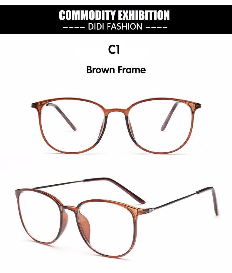 6e53c6f0f2 DIDI Leopard TR90 Titanium Eyeglasses Thin Frame Women Men Clear ...
