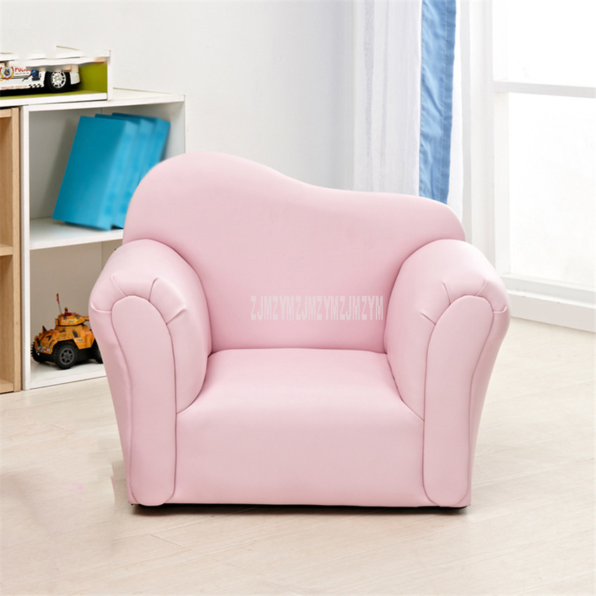 Children Sofa With Mini Stool Baby Kids Lazy Sofa Chair Quality Sponge Filler Solid Wood Frame Soft Seat Handrail 39*51*65cm