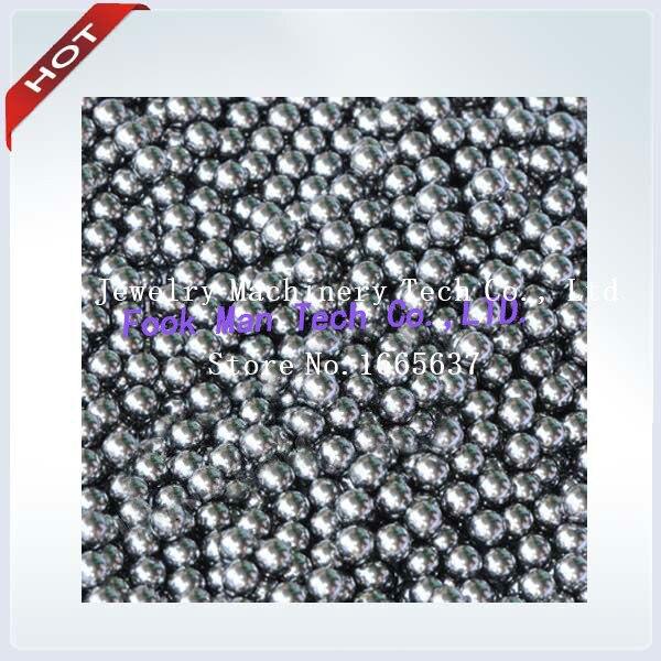 Livraison gratuite perles de polissage en acier inoxydable 2mm pour polisseuse à gobelet rotatif, accessoires pour gobelet à bijoux supports de polissage