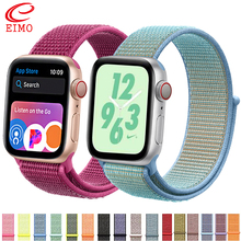 EIMO Strap For Apple Watch band 44 mm 38mm Nylon apple watch 4/3/2/1 iWatch band 42mm 40mm sport loop correa bracelet watchband