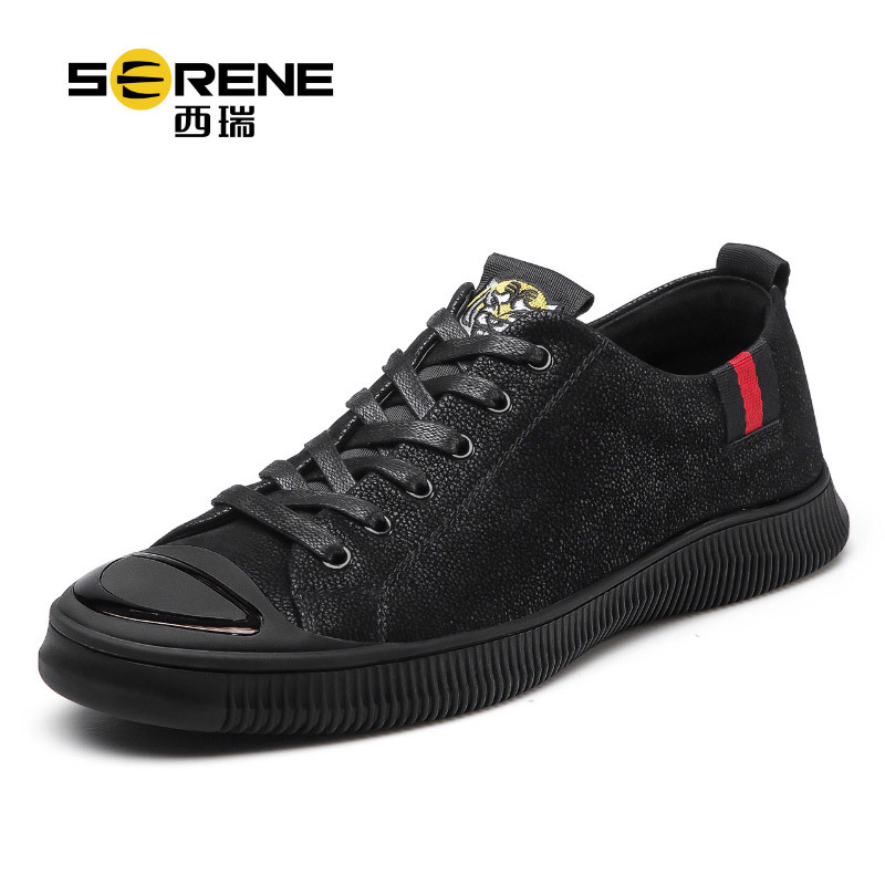 Serene Mens Designer Shoes Lace-up Brand Mens Shoes Casual Pu Mens Trainers Sapatos 2018 New Summer Mens Shoes Zapatos Hombre autumn leather mens outdoor men canvas shoes mens casual shoes lace up mens men trainers zapatillas zapatos hombre