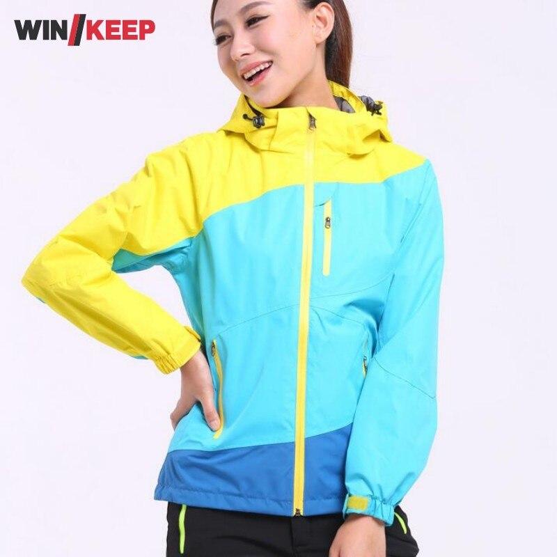 Hommes femmes amoureux séchage rapide randonnée veste imperméable protection solaire manteau plein air Sport Ski vestes coloré Polyester Camping Outwear