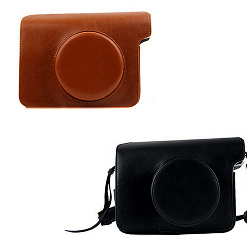 PU Leather Shockproof Photography Camera Bag Protector Shell Case Pouch Sheath For Fuji Fujifilm Polaroid Instax W300