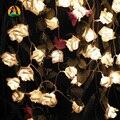 3 M 30LED Feriado Floral Rosa LED String Luzes Festa de Casamento Do Evento Decoração Iluminações LED de Bateria AA Vacaciones Luces
