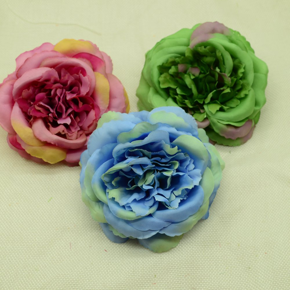 10pcs Silk peonies artificial flowers for home wedding decor household products diy christmas wreath a cap fake plastic flower Pakistan