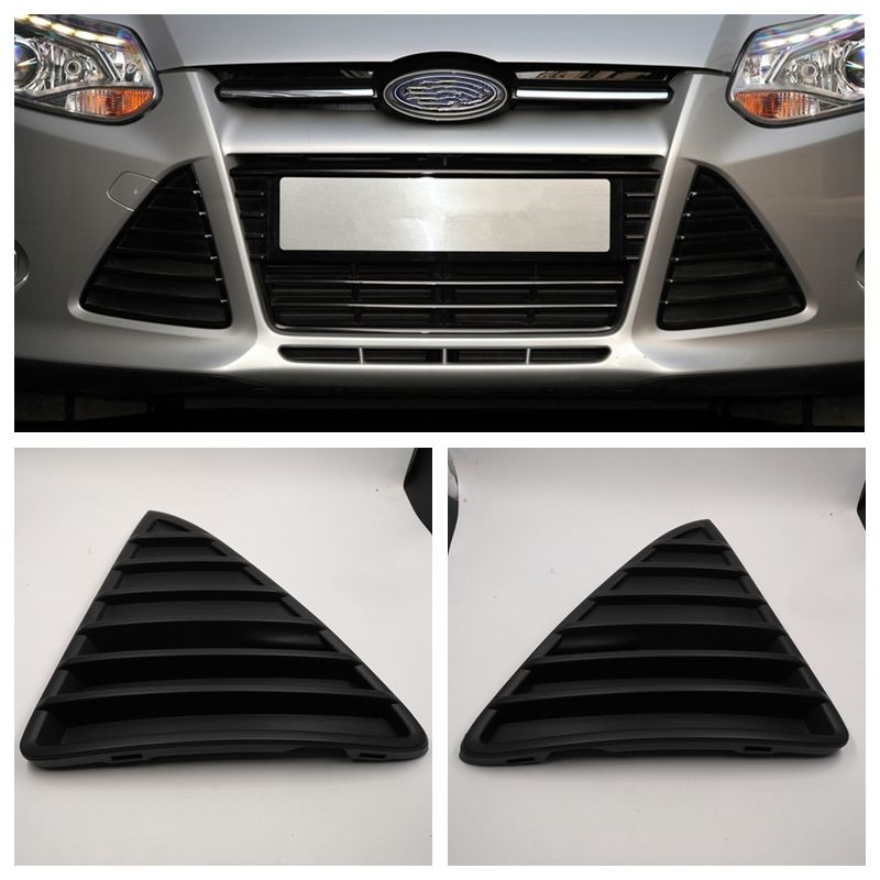 Cafoucs Car Front Bumper Triangle Grill For Ford Focus 3 Grille 2011 2012 2013 2014 BM51-17K946-AE / BM51-17K947-AE