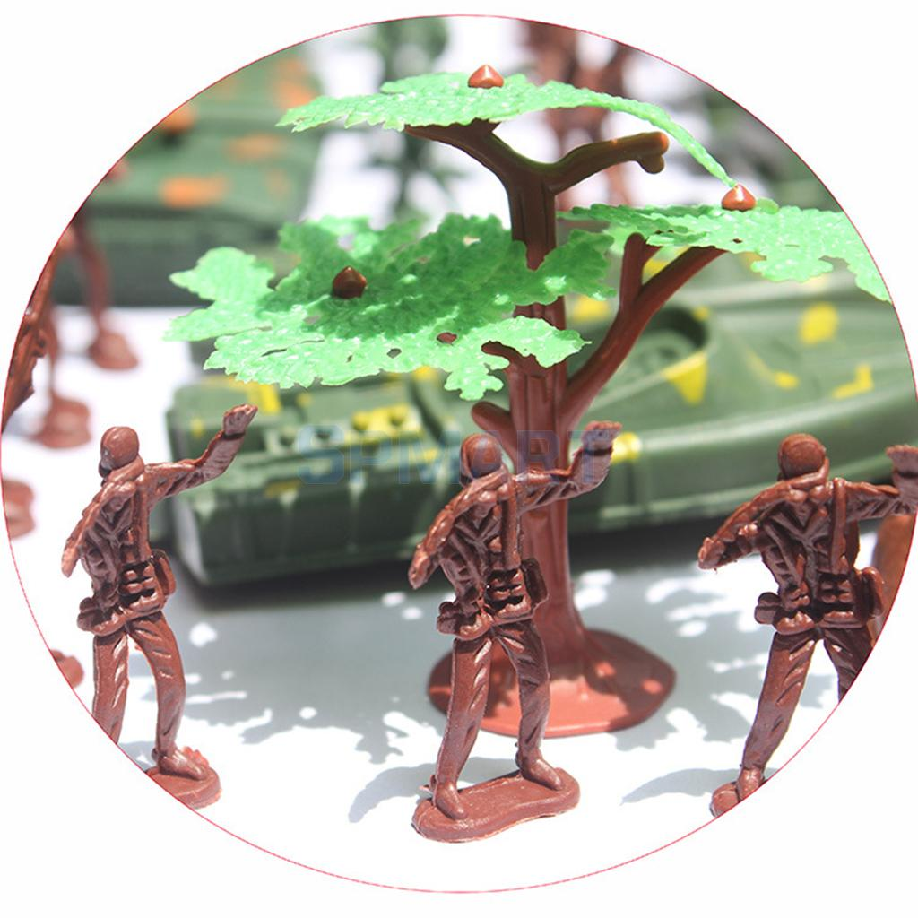 519pcs Plastic Military Playset 4cm Soldier Figures with Assorted Army Accessories Model Toys For Children Boys