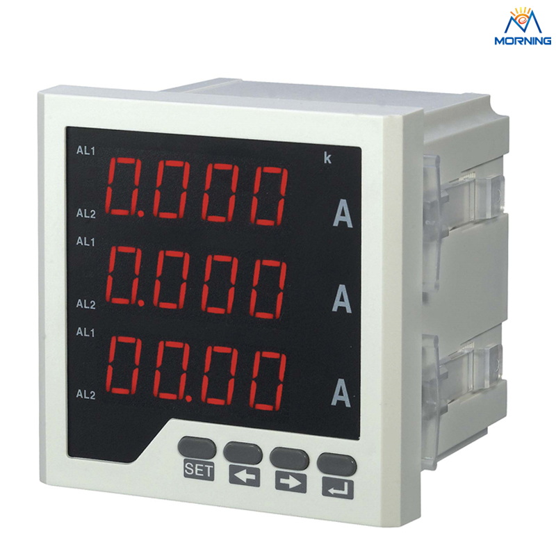 3AA23 size 120*120mm 3-phase LED display AC to DC current ampere meter for industrial use 3uif23 frame size 120 120mm 3 phase ac led digital combined meter for distribution box
