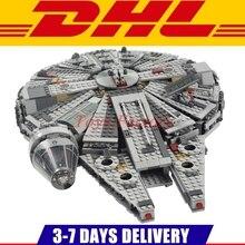 1381 UNIDS Lepin 05007 Bela 10467 Star Force Despierta Millennium Falcon Kit de Construcción de Juguete Juego de Niños Juguete Clon 75105