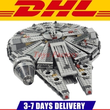 1381PCS Lepin 05007 Bela 10467 Star Force Awakens Millennium Falcon Toy Building Kit Set Kids Toy Clone 75105