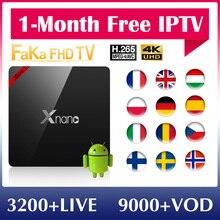 IPTV italie France XNANO 1 mois gratuit IP TV Canada Portugal turquie IPTV abonnement TV Box 4 K allemagne EX YU IPTV UK français IP TV