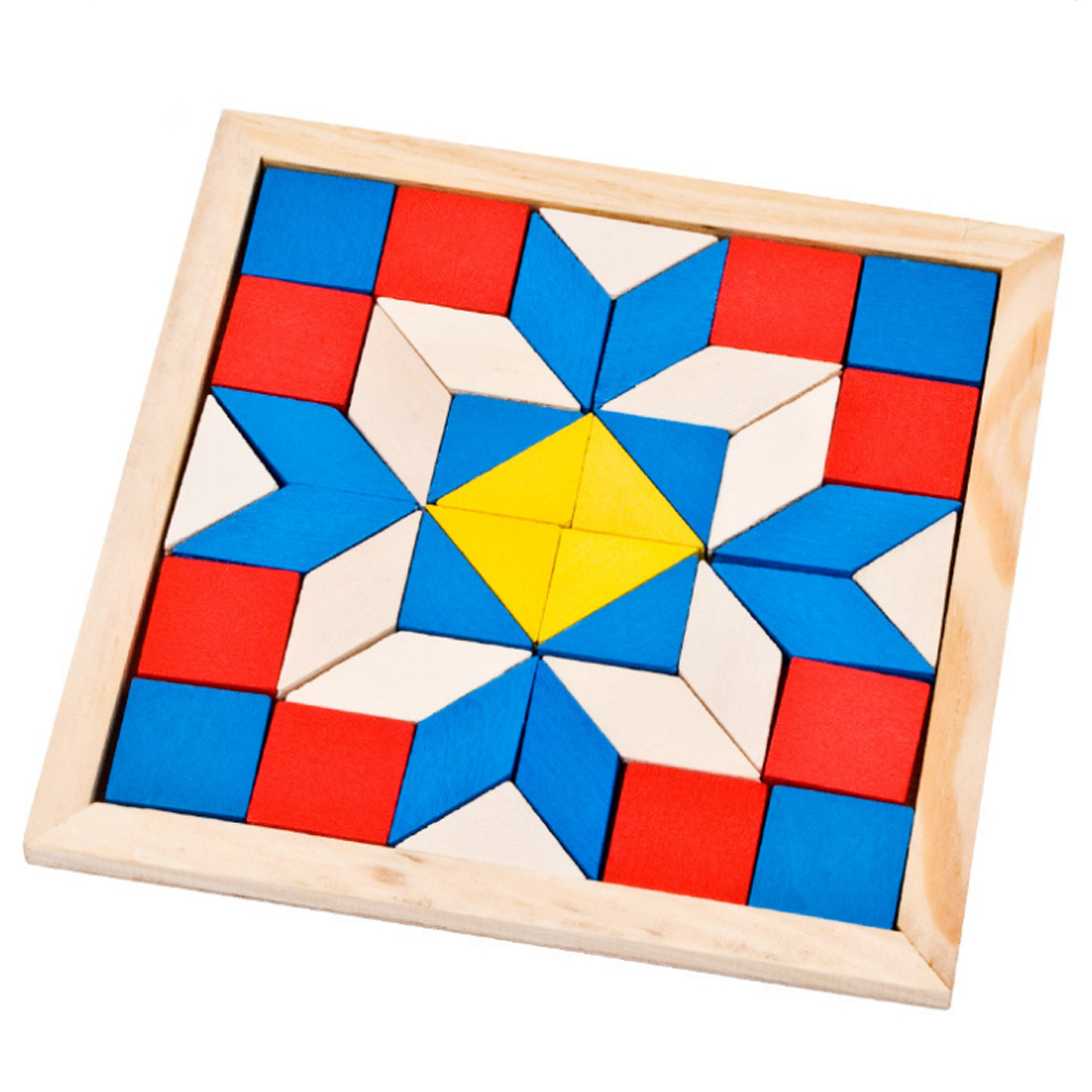 Wooden Jigsaw Puzzle Diamond Shaped Board Enlightening Wisdom Early Teaching Toy Educational Gift Toy For Children