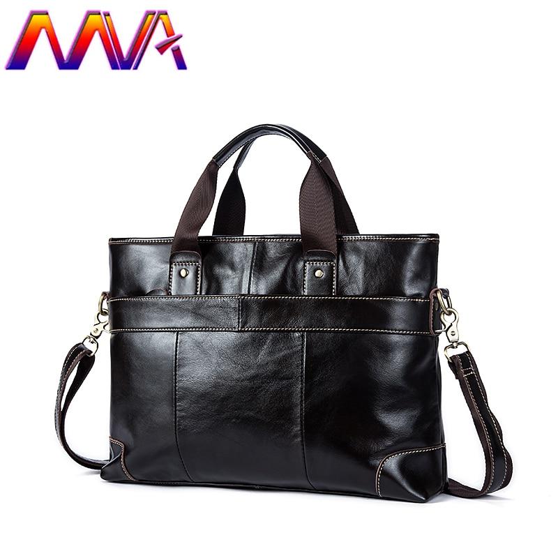 MVA Top quality genuine leather men briefcase with cow leather laptop briefcase for fashion men shoulder bag men handbag стоимость